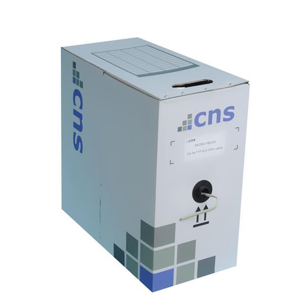 CNS kabel UTP, Cat5E, drôt, OUTDOOR, box 305m - čierna
