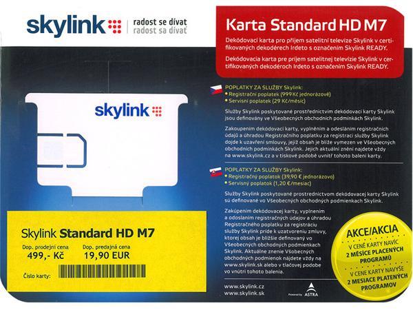 Karta SKYLINK Standard HD M7