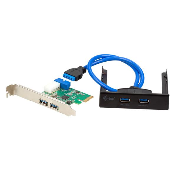 i-tec PCI-e 4x USB 3.0 low profile + Front Panel Extend