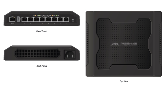 Ubiquiti ToughSwitch 8x 10/100/1000Mbps PoE/PoE24V desktop