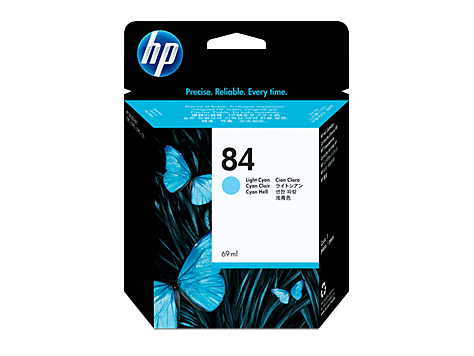 HP No. 84 lcyan ink cartridge for 120, 10PS/20PS/50PS