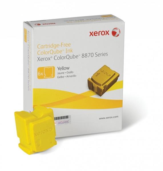 XEROX COLORQUBE INK YELLOW, COLORQUBE 8870/8880 (6 STICKS), DMO