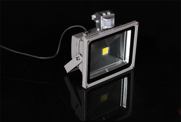LED reflektor 20W, 1460 lm, 230V, pohyb.č.PIR, neutral biela