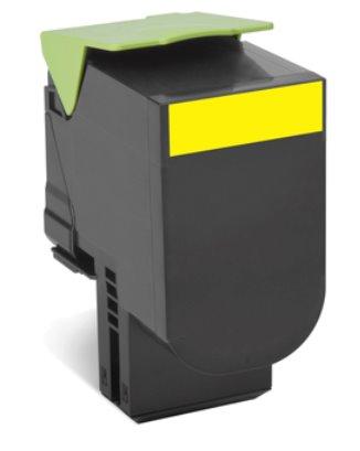 Lexmark 802XY Yellow Extra High Yield Return Program Toner Cartridge CX510 4K