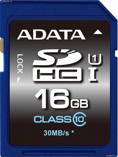16 GB . SDXC/SDHC Premier UHS-I karta ADATA class 10 Ultra High Speed