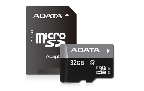 32 GB . microSDHC/SDXC UHS-I karta ADATA class 10 Ultra High Speed + adaptér