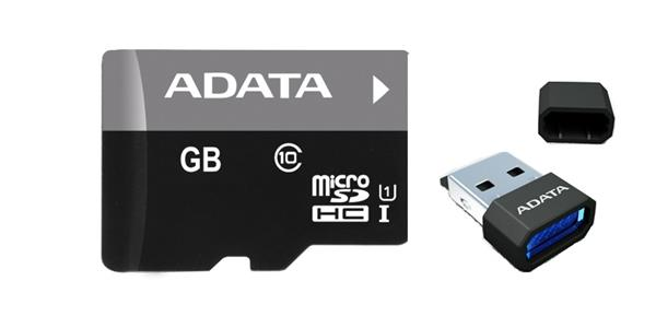 32 GB . microSDHC/SDXC UHS-I karta ADATA class 10 Ultra High Speed + micro-čítačka V3