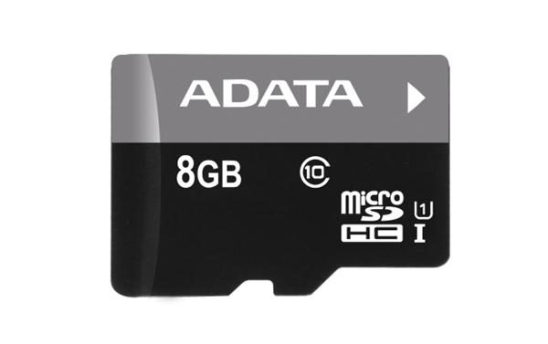 8 GB . microSDHC UHS-I karta ADATA class 10 Ultra High Speed + adapter