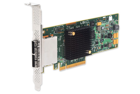 LSI SAS 9207-4I4E , PCI-E 6Gb/s, SATA/SAS HBA 8-ch, bulk