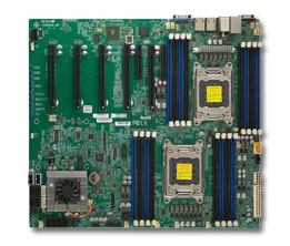 Supermicro Motherboard Xeon X9DRG-QF-B Dual socket R (LGA 2011) Intel® i350 Dual port GbE LAN