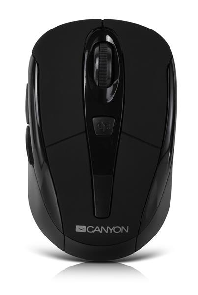 Canyon CNR-MSOW06B, Wireless optická myš USB, kompaktná, vhodná k notebookom, čierna, 1600dpi