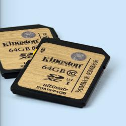 64 GB . SDXC karta Kingston . Class 10 UHS-I Ultimate ( r90MB/s, w45MB/s )