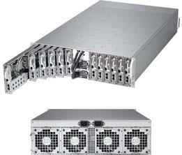 Supermicro Server SYS-5037MC-H12TRF, 3U, 12 x Micro Cloud Nodes, Intel Chipset, SATA, IPMI - Black