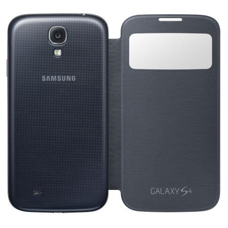 Samsung flipové púzdro s oknom S-view pre Galaxy S IV (i9505), čierna