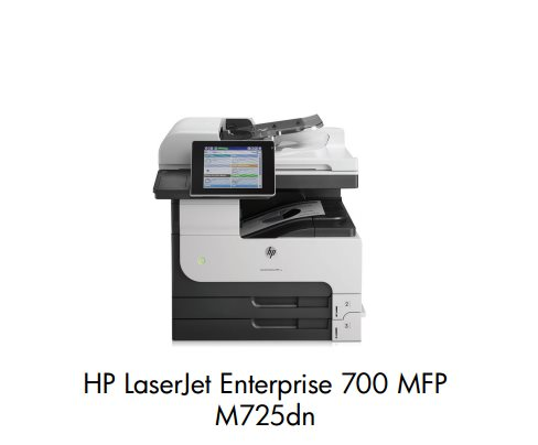 HP LaserJet Enterprise 700 MFP M725dn A3