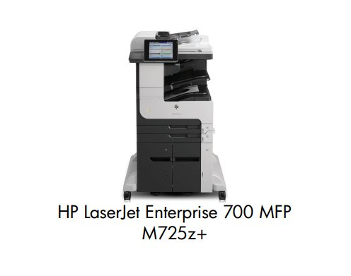 HP LaserJet Enterprise 700 MFP M725z+ A3