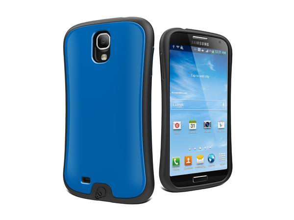 Cygnett, obal FitGrip pre Samsung Galaxy S4, ergonomický, modrý