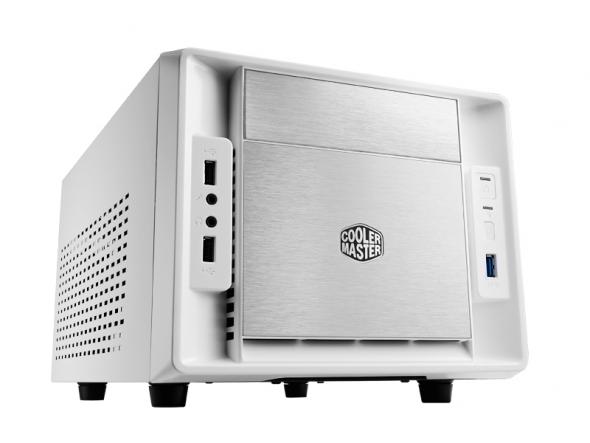 CoolerMaster case mini ITX Elite 120 Advance, biela, USB3.0, bez zdroja