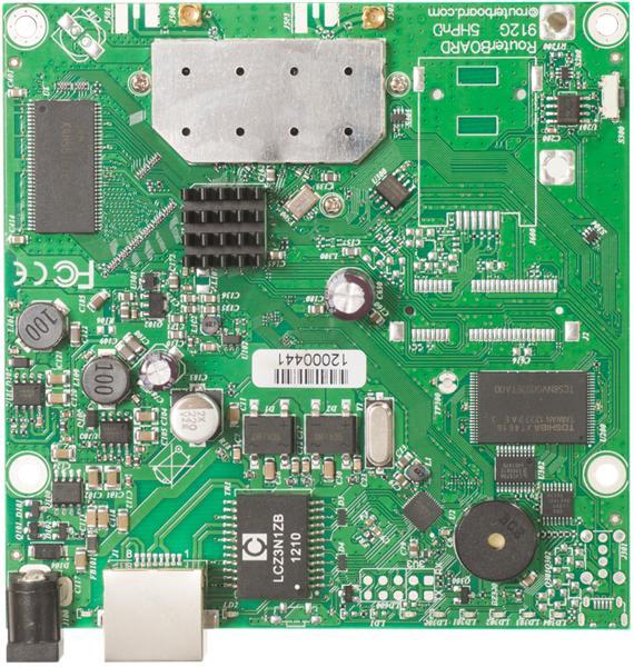 MIKROTIK RouterBOARD 911G-2HPnD + L3 (600MHz, 32MB RAM, 1x LAN,1x2,4GHz 802.11b/g/n card, 2xMMCX)