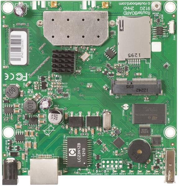 MIKROTIK RouterBOARD 912UAG-2HPnD + L4 (600MHz, 64MB RAM, 1x LAN,1x2,4GHz 802.11b/g/n card, 2xMMCX, 3G)