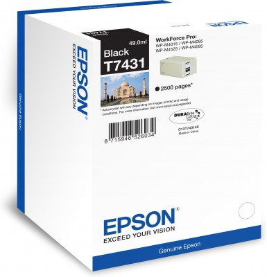 Epson atrament WP-M4000/M4500 series black 2.5tis. str.
