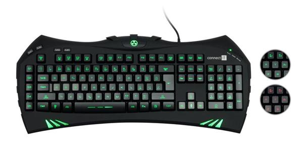 CONNECT IT BATTLE CI-147 podsvietena hráčska klávesnica