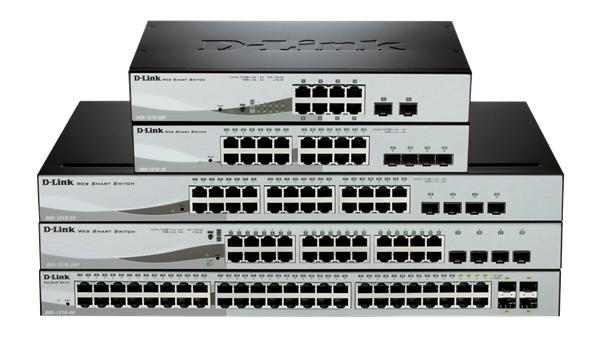 D-Link DGS-1210-24P 24-port 1Gb Smart Switch, 4x SFP, PoE