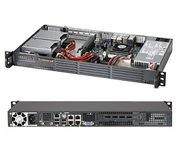 Supermicro® SC504-203B 1U chassis mini