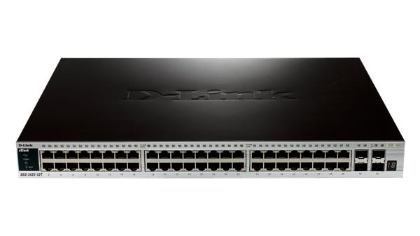 D-Link DGS-3420-52T 48-port 1Gb L2+ switch, 4x 10Gb SFP+