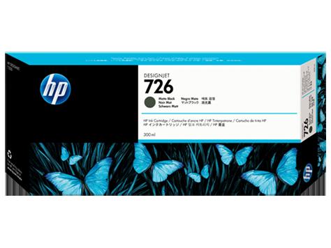 HP náplň č.726, matná čierna, 300 ml