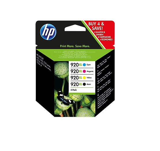 HP 920XL CMYK Ink Cartridge Combo Pack