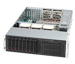 Supermicro® CSE-832T-650B 3U chassis