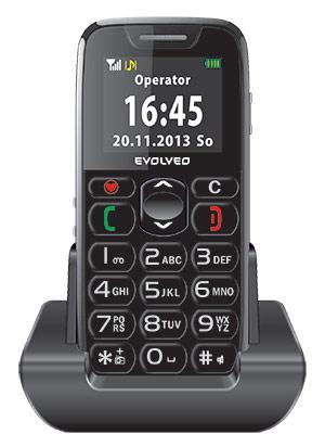 EVOLVEO EasyPhone. Mobilný telefón pre seniórov s nabíjacím stojanom