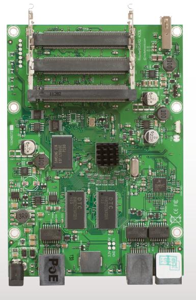 MIKROTIK RouterBOARD 433UL + L4 (400MHz; 64MB RAM, 3xLAN, 3xMiniPCI, 1x USB)