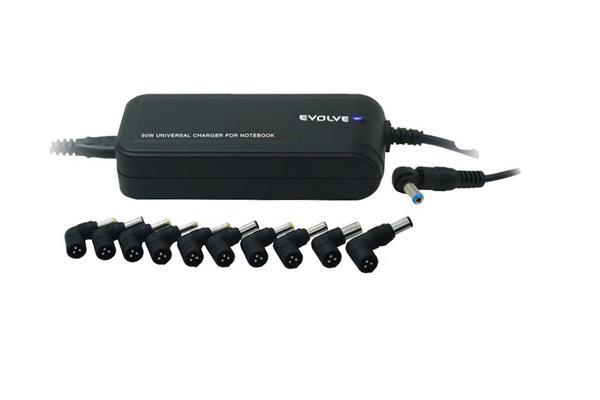 EVOLVEO Global LITE Plus, univerzálny napájací zdroj pre NTB. 90W, USB port. Adaptér