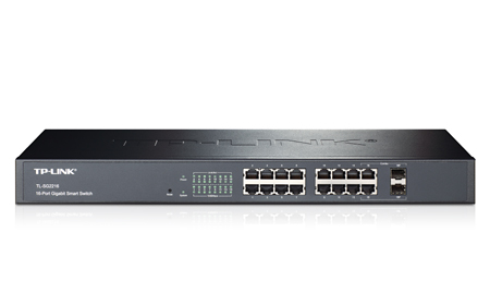 TP-LINK TL-SG2216 16-Port Gigabit Smart Switch with 2 Combo SFP Slots