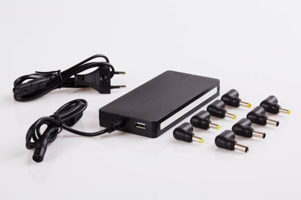 Napájací univerzálny adaptér 90W slim automatic, USB