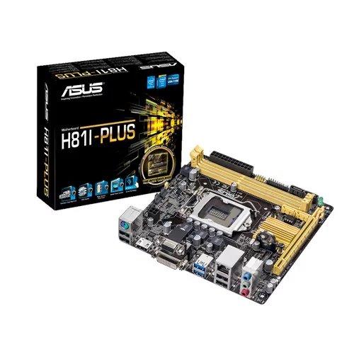 ASUS H81I-PLUS soc.1150 H81 DDR3 mITX 1xPCIe USB3 GL iG D-Sub DVI HDMI