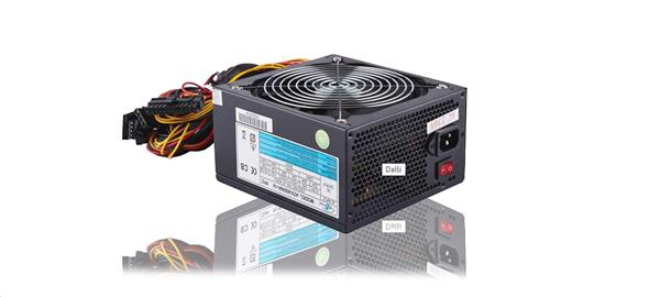 Eurocase zdroj 650W, APFC, eff. 80+, 14cm ventilátor, bulk