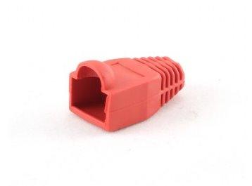 OEM kryt na mod.konektor RJ45 s ochranou poistky - červená, (100ks)