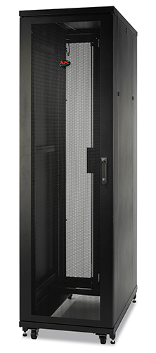 Rack NetShelter SV 42U 600mm Wide x 1060mm Deep Enclosure with Sides, Black, Single Rack Unassembled