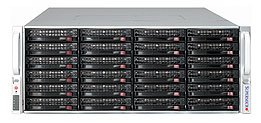 Supermicro® CSE-847E16-R1K28WB 4U chassis chassis 36x Hot-swap HDD 1280W redundant PSU