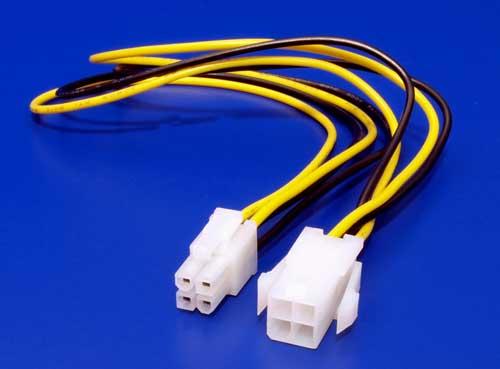 Kábel napájací predlžovací P4 (4pin) 34cm
