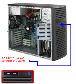 Supermicro® CSE-732i-500B Tower WhisperQuite