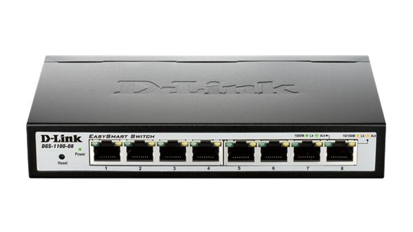 D-Link DGS-1100-08 8-Port 1Gb EasySmart Switch