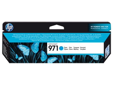 Azúrová atramentová kazeta HP Officejet 971
