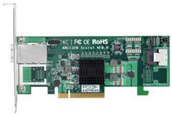 ARECA HBA 8x SAS 6Gbit/s (1x SFF-8087 + 1x SFF-8088) Interní/Externí, PCI-E x8