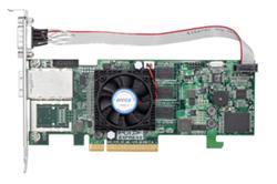 ARECA 4port SAS/SATA (6Gb/s) (1x SFF-8088) Externí, 512MB,RAID 0,1,5,6/PCI-E x8, LP
