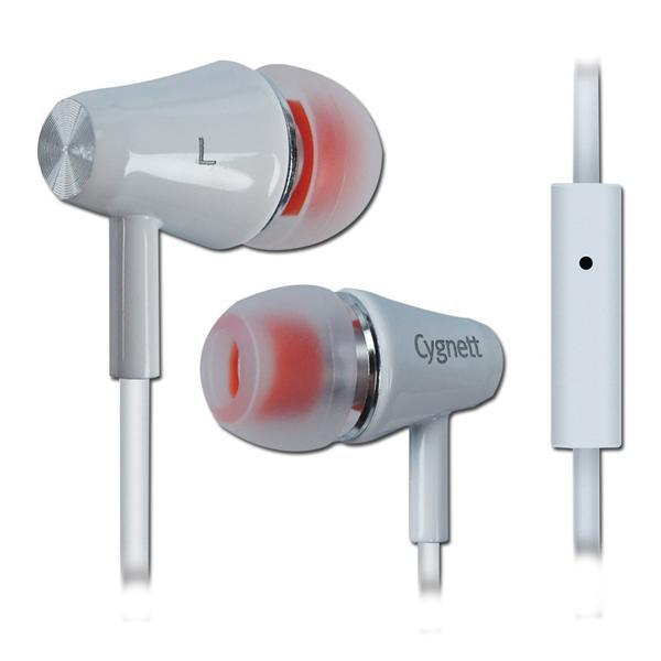 Cygnett Fusion II, slúchadlá do uší s mikrofónom, pre smartfóny, biele