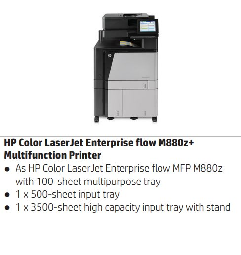 HP Color LaserJet Enterprise flow MFP M880z+ A3 /nahrada CM60x0/